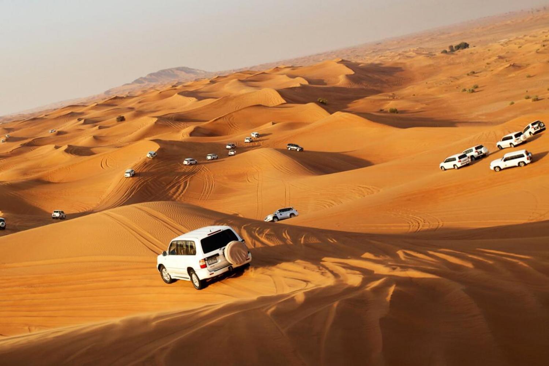 Popular places to go for desert safari